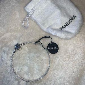 Pandora Shine Bright Clasp Mesh Bracelet